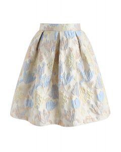 Flourish Flowers Jacquard Pleated Skirt