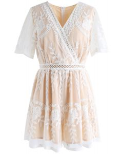 Sweet Dreams Floral Embroidered Mesh Playsuit