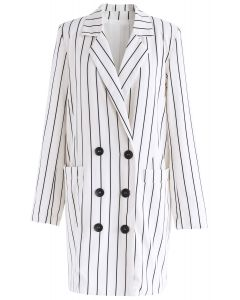 Urban Chic Stripe Longline Blazer