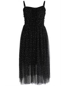 Sparkling Tulle Cami Dress in Black