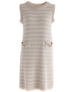 Dating Sweetly Knit Sleeveless Dress