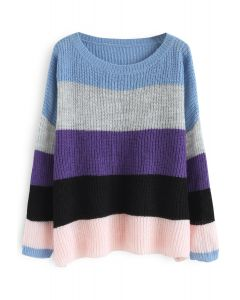 It's A Colorful Day Oversize Sweater in Purple