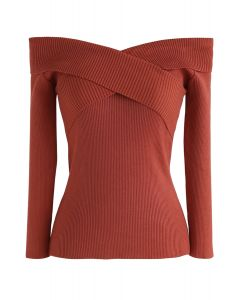 Cross On Love Knit Top in Caramel