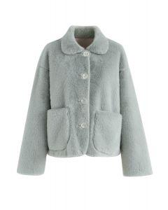 New Level of Loveliness Faux Fur Jacket in Mint