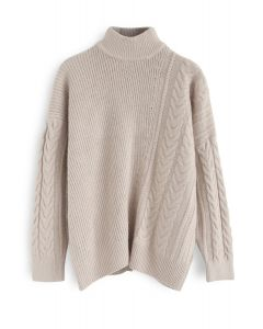 Warm Up The Moment Knit Sweater in Light Tan