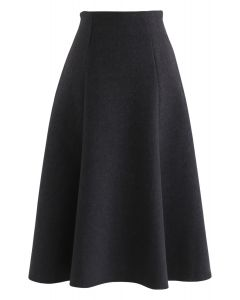 Everyday Breeze A-Line Skirt in Black