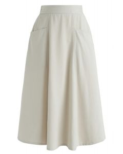 I Love It A-Line Skirt in Sand