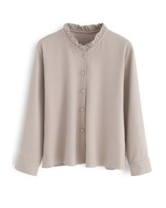 Add A Little Ruffle Shirt in Dusty Pink