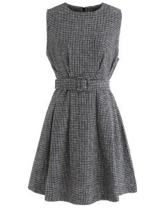 Life with Grace Houndstooth Sleeveless Dress