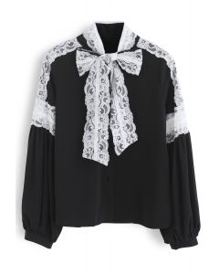 Ultimate Day to Night Lace Shirt in Black