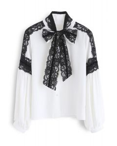 Ultimate Day to Night Lace Shirt in White