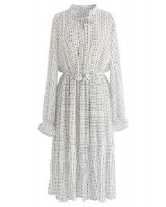 One More Time Polka Dots Chiffon Dress in White