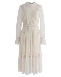 Be Mine Lace Mesh Dress in Cream