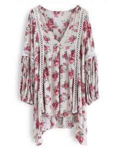 Redolent Rose Flow My Way V-neck Tunic in Ivory