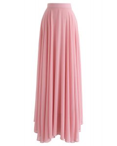 Timeless Favorite Chiffon Maxi Skirt in Pink