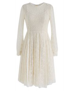 Once Upon a Dream Lace Dress in Cream