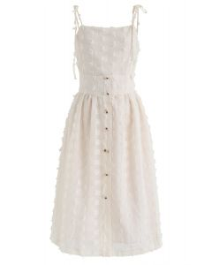 Love Theme 3D Tassels Cami Dress in Cream
