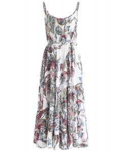 Summer Icon Floral Cami Dress in Ivory