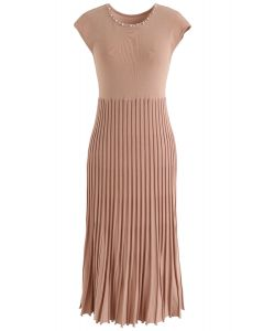 Stand for You Knit Sleeveless Dress in Coral