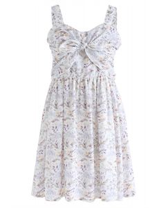 Put Me in Your Heart Bowknot Floral Cami Dress