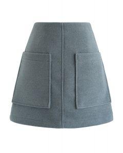 Pocket of Charm Mini Skirt in Teal