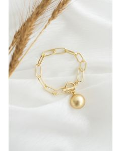 Golden Pearl Chain Bracelet