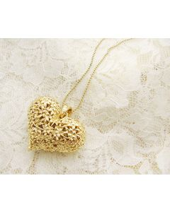 Carved Hollow Heart-Shaped Necklace