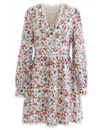 Modest Floret Printed Crochet Dress