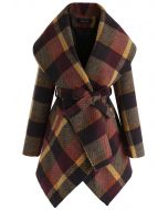 Prairie Check Rabato Coat in Plum