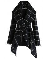 Prairie Grid Rabato Coat in Black