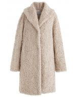 Feeling of Warmth Faux Fur Longline Coat in Sand
