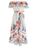 You'll See Floral Asymmetric Waterfall Dress